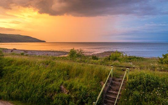Saint-Irenee, Canada: Toujours le soleil après la pluie.