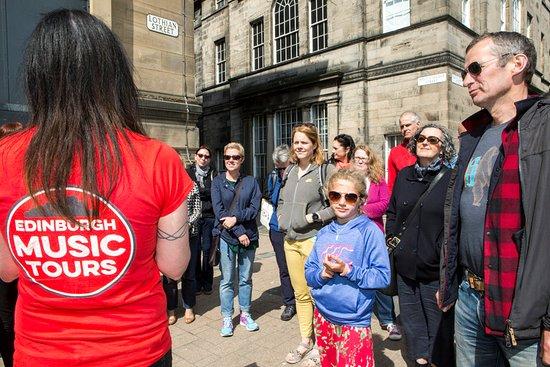 Edinburgh Music Tours: Great views of the Castle