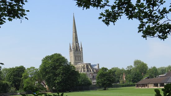 Norwich Cathedral: From outside of the cathedral
