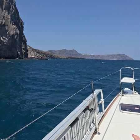SemiPrivate Standard Santorini Catamaran Cruise with Greek buffet and drinks: Red Beach