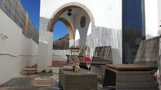 Villa Deseada : Prive terras kamer Cuatro