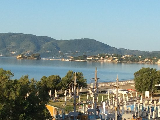 Louis Zante Beach: view towards Laganas