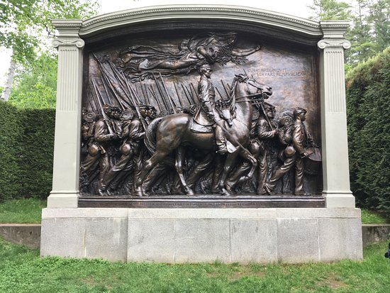 Cornish, NH: Robert Gould Shaw Memorial by Augustus Saint-Gaudens