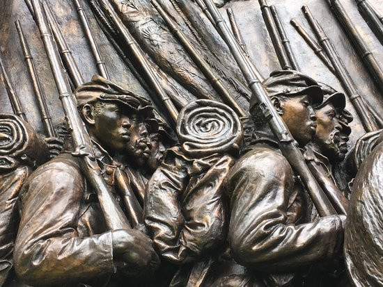 Detail Robert Gould Shaw Memorial Cornish, NH