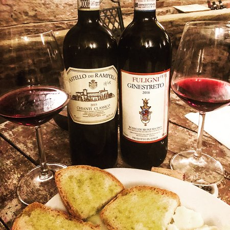 Il Battistero Siena Fine Wines Shop: The Two Wines to Taste Paired with Fresh Bread, Olive Oil, and Parmesan