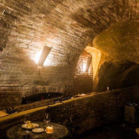 Il Battistero Siena Fine Wines Shop: The Arching Passageway Leading Towards the Hidden Door