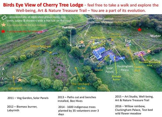 Saline, UK: Bird's eye view
