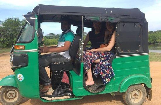Arugambay Tours: This is us on the Tuk Tuk Safari with Imam
