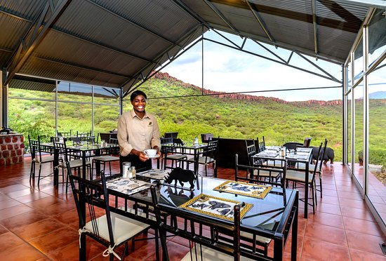 Waterberg Plateau Park, Namíbia: Restaurant of Waterberg Valley Lodge
