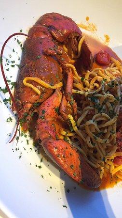 le galet: Pâtes au demi-homard