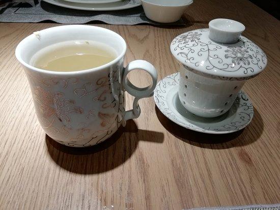 Chengdu Marriott Hotel Financial Centre: Jasmine tea at Man Ho Restaurant