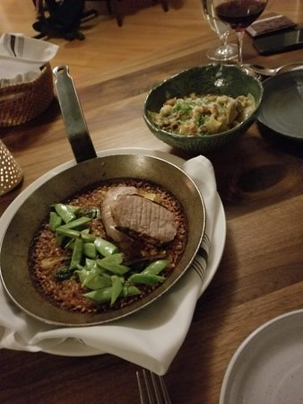 SoLo Farm and Table: Pork with Sofrito Rice & Rabbit Pappardelle