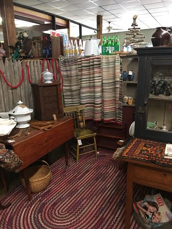 Washington, IL: this booth on the second floor specializes in early antiques