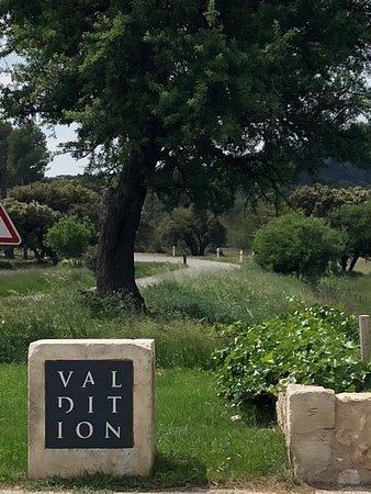 Domaine de Valdition: Entrance to the drive