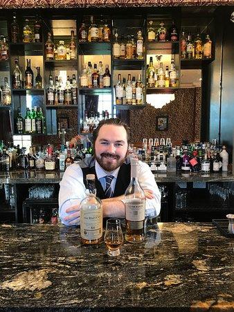 Langbank, UK: The wonderful mixologist at the Dram Bar