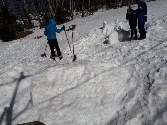 Mont Blanc-Faustin: Sculptures de neige