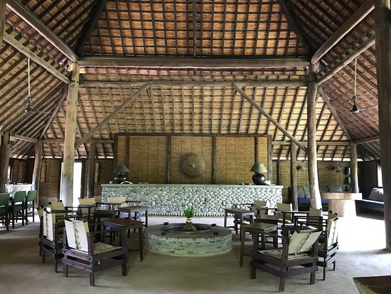 Tiger Tops Karnali Lodge : This is the main lodge building. It serves as the lobby, dining hall, and hang out space. Amazin