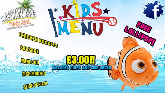 Castaways Fish Bar: kids special menu