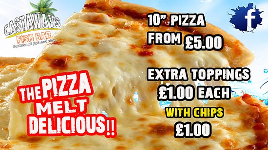 Castaways Fish Bar: pizza