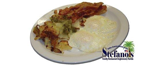 Stefano's Family Restaurant: Breakfast served 6:30 - 11am.