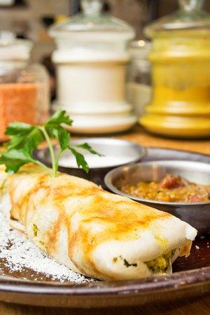 El Mat Tapas Bar: MASALA DOSA WITH SAMBAL AND COCONUT CHUTNEY