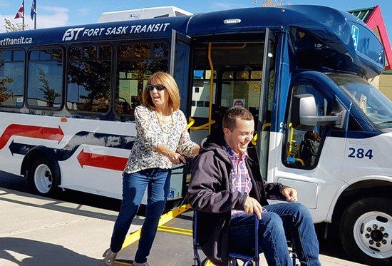 Fort Saskatchewan Transit: wheelchair accessible