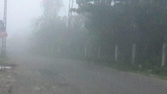 Vagamon Falls: Fog at 3 p.m