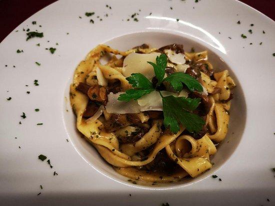 Taste Sin Gluten : Fettucine con funghi porcini-pasta fresca con boletus
