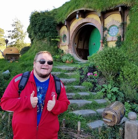 NAVI Tours: This is in front of Frodo and Bilbo's house.