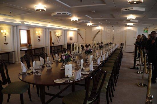 Britannia (navire) : Grand Dinning hall