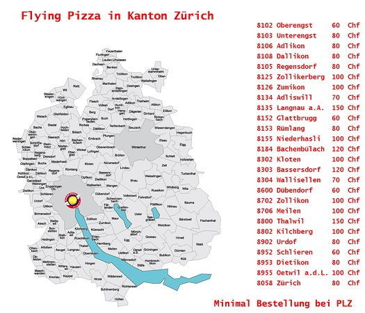 Flying Pizza Karte.Flying Pizza In Kanton Zurich Picture Of Flying Pizza