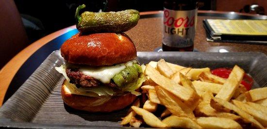 The Ram Restaurant & Brewery: Santa Fe Burger