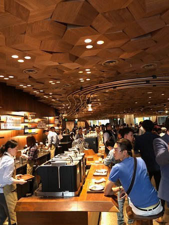 "Starbucks Reserve Roastery Shanghai: think this was the ""cold brew"" area"