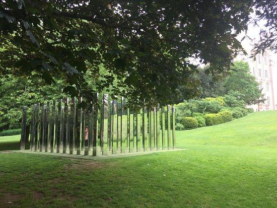 Royal Fort Gardens: mirrored sculpture