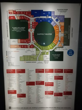 a7a20801c0ae7 map of the mall - Bilde av Miracle Mile Shops at Planet Hollywood i ...
