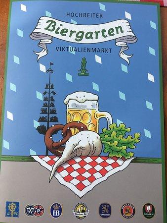 Biergarten Viktualienmarkt ภาพถ่าย