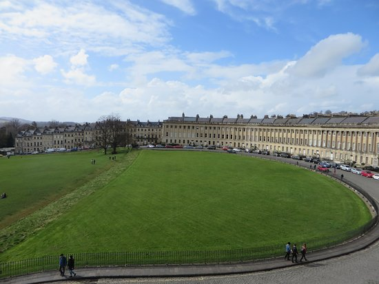 No. 1 Royal Crescent: Panoramica dalla finestra della camera da letto