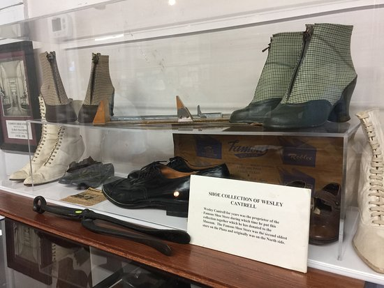 Lamar County Historical Museum: A shoe collection.