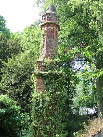 Renishaw Hall And Gardens : Chimney of the old paper mill