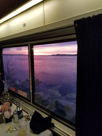 Empire Builder: Sunset over the Mighty Mississippi