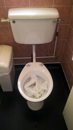 Studley, UK: Full of loo roll, no toilet seat