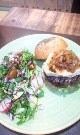 Tropicana: one of the burgers with goat cheese