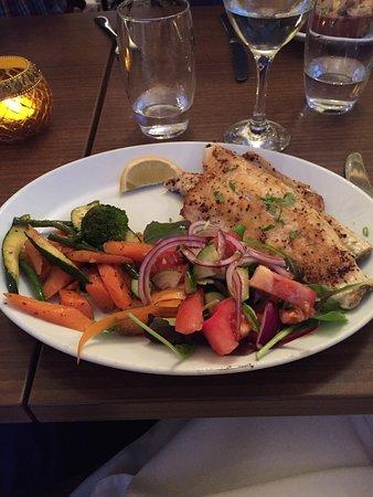 Konak Meze Turkish Restaurant: sea bass with salad as reuested