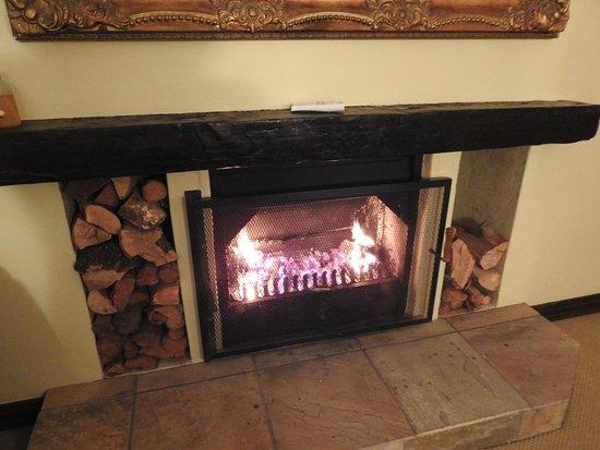 Schoone Oordt Country House: Fire in room