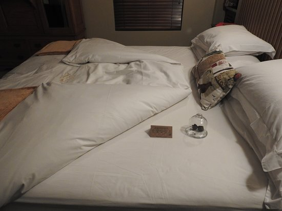 Schoone Oordt Country House: Chocolates & Weather Forecast on the bed