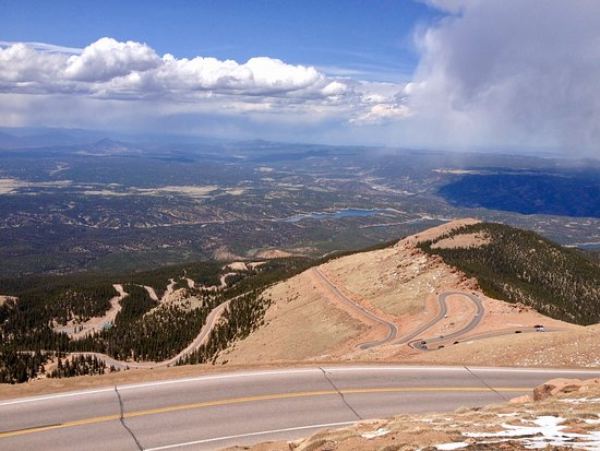 Cascade, CO: The road you will be driving to the top. Very well maintained but go slow.