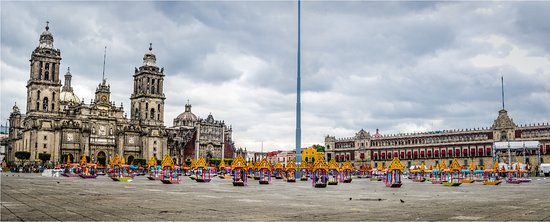 Mexico City, Mexico: The Zócalo is one of the largest city squares in the world and home to the Metropolitan Cathedra