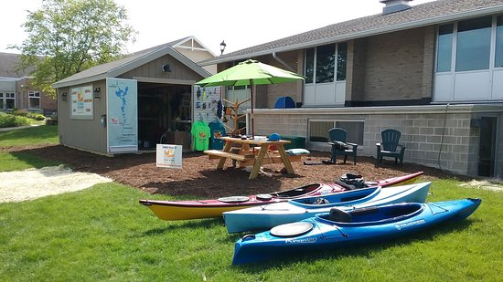 Fox River Paddle Sports is located right behind the Waterford Village Hall.
