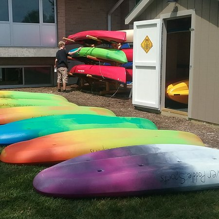 Fox River Paddle Sports: We offer solo and tandem kayaks as well as canoes and standup paddleboards.