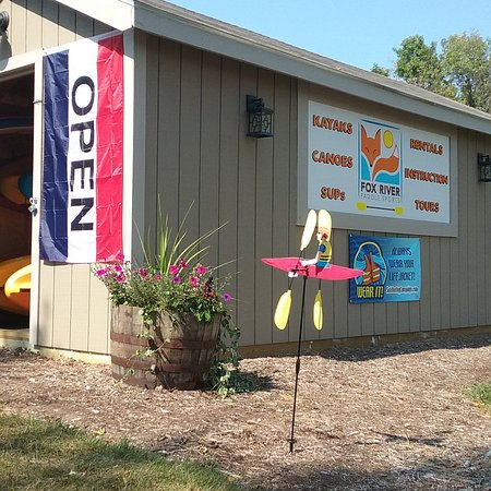 Fox River Paddle Sports: Our storage building was built by the construction class from Waterford High School.